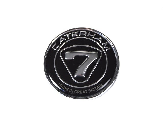 NOSECONE BADGE BLACK/SILVER SELF ADHESIVE