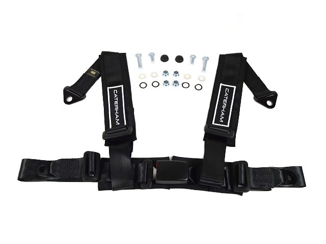 Seatbelt - 4 Point Harness - Black