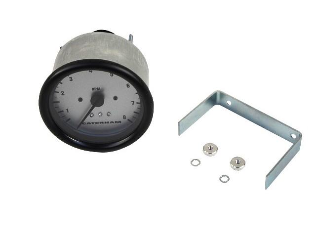 Tacho 0-8000 rpm - Silver Faced