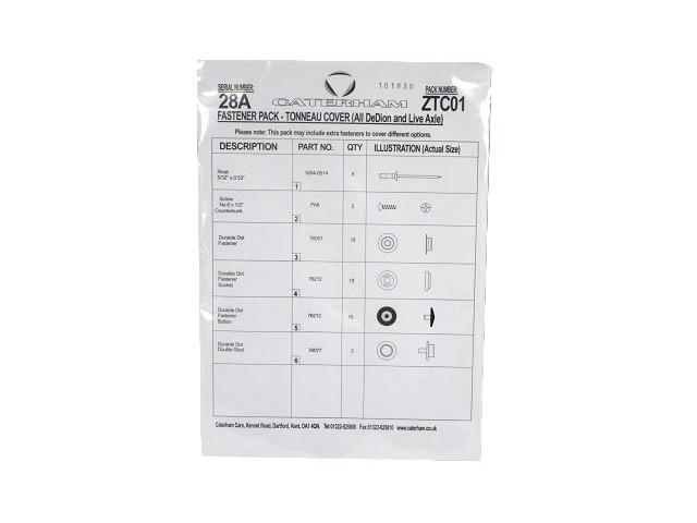 Fastener Pack - Tonneau Cover (S/C)