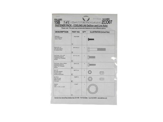 Fastener Pack - Cooling