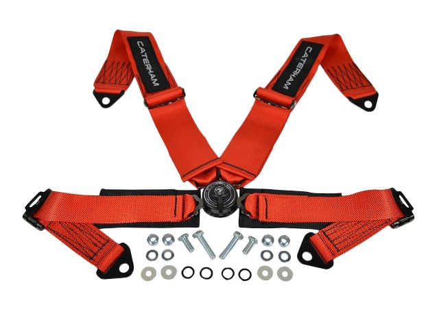 Seatbelt - 4 Point Quick Release - Red