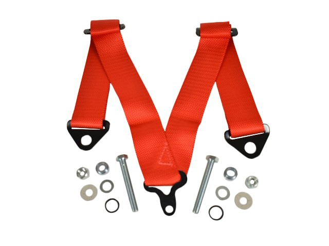 CRUTCH STRAP FOR 4 POINT HARNESS - RED
