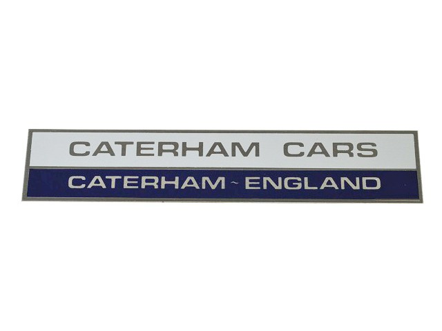 Badge - Rear Wing - Blue/White - Caterham Cars