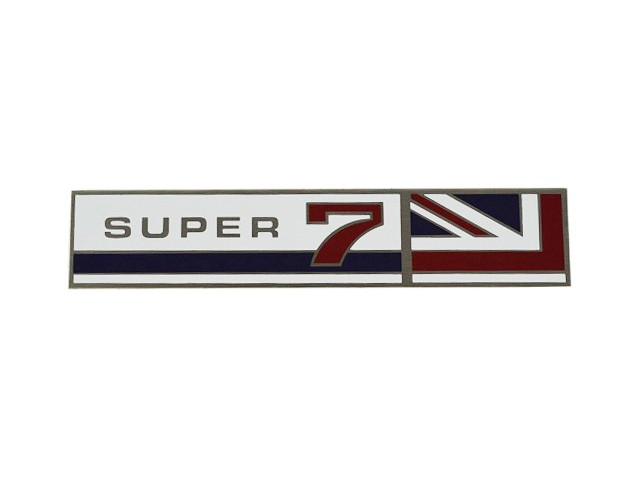 Badge - Rear Wing - Super 7 with Union Jack
