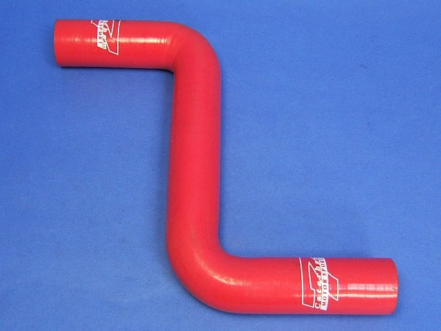 Hose - Bottom - Rover Dry Sump - Silicone Red