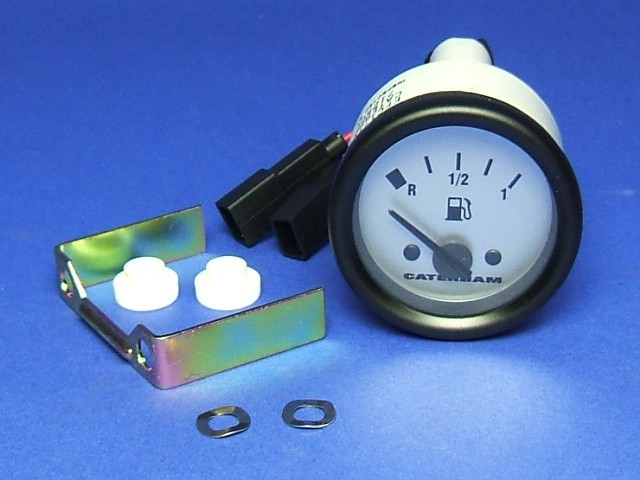 Fuel Gauge - Silver Dial Face