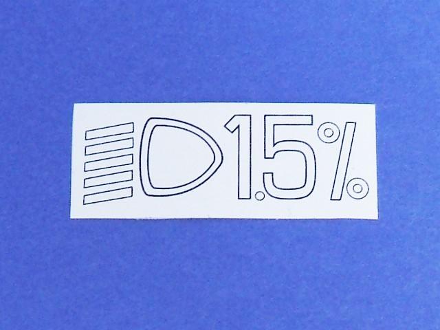 EU4 Headlamp Alignment Sticker