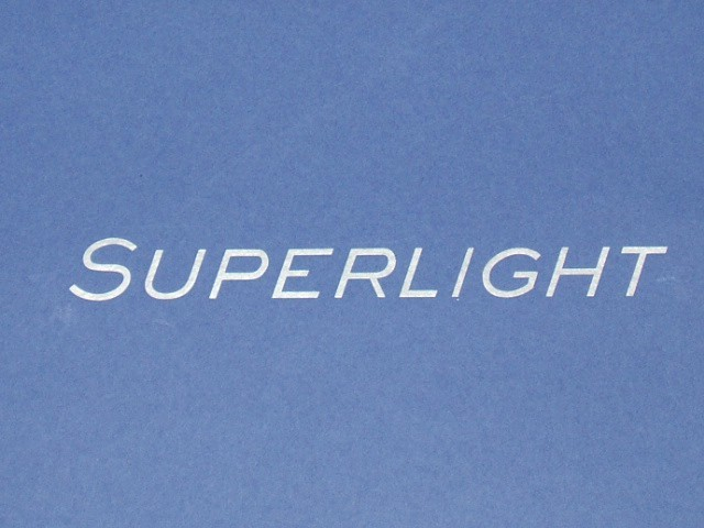 Decal - Rear Panel - Superlight - Silver