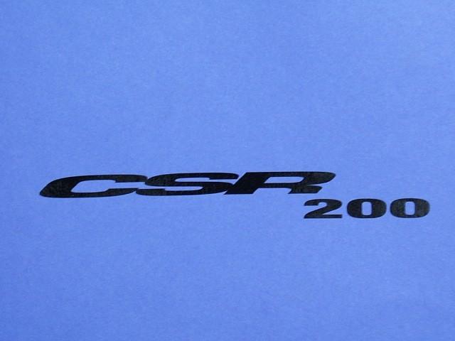 Decal - Bonnet - Black - CSR200