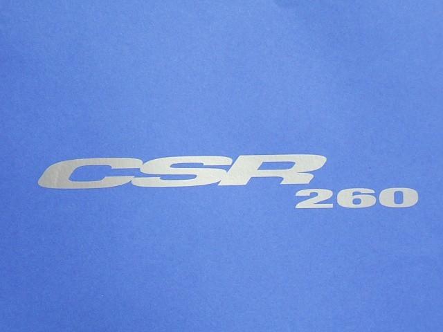 Decal - Bonnet - Silver - CSR260