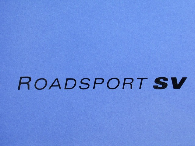 Decal - Bonnet - Roadsport - Black - SV