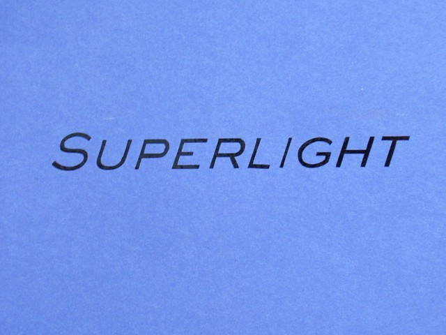 Decal - Rear Panel - Superlight - Black