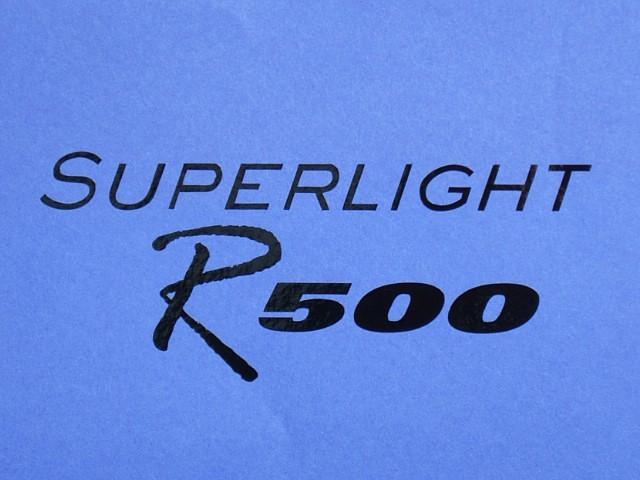 Decal - Rear Panel - Superlight R500 - Black