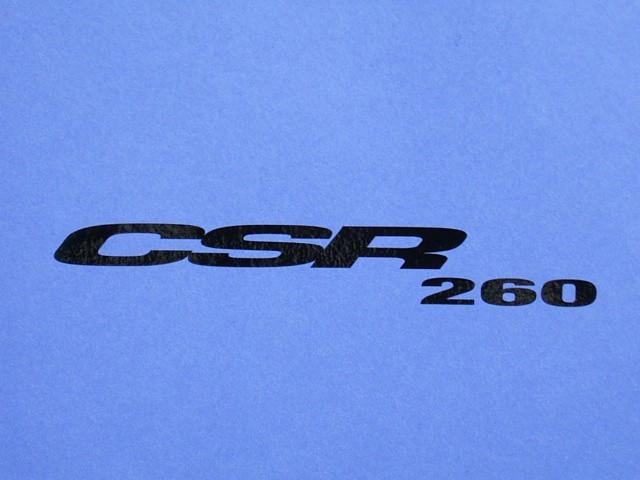 Decal - Rear Panel - Black - CSR260