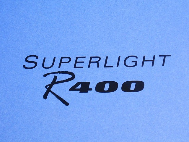 Decal - Bonnet - Superlight R400 - Black