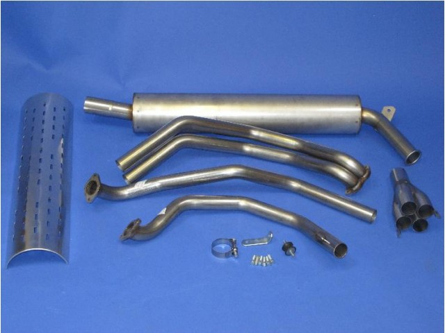 Side competition exhaust kit (Ford Crossflow) RHD