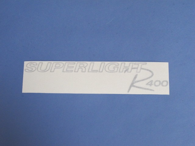 Decal - Bonnet - R400 Superlight Silver 2008