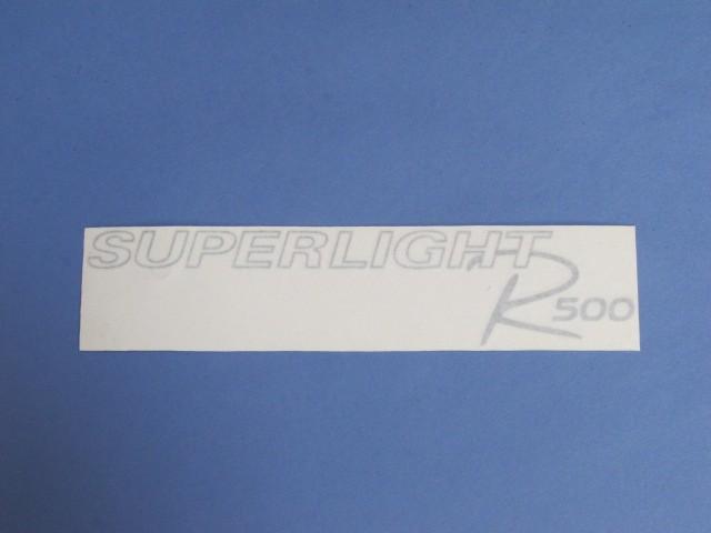 DECAL BONNET R500 SUPERLIGHT MODEL SILVER