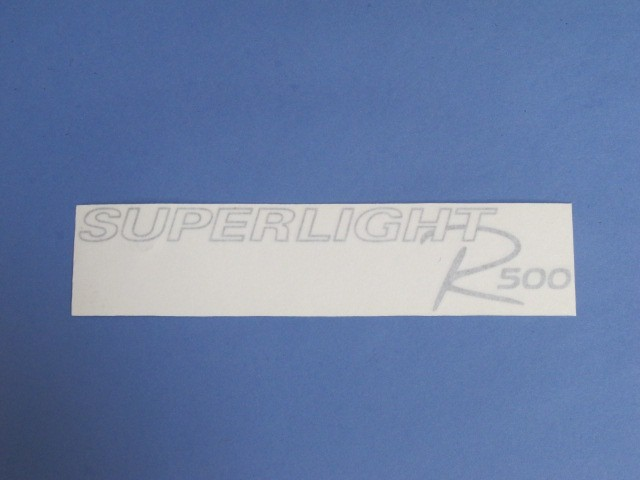 Decal - Bonnet - R500 Superlight Silver 2008