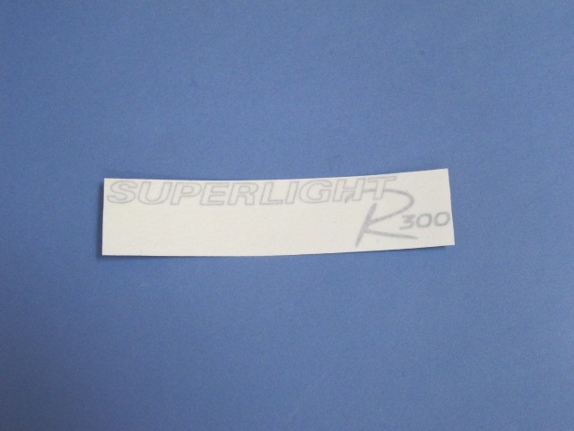 Decal - Rear Panel - R300 Superlight Silver 2008