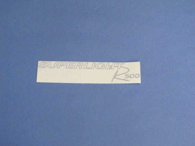 Decal - Rear Panel - R500 Superlight 2008