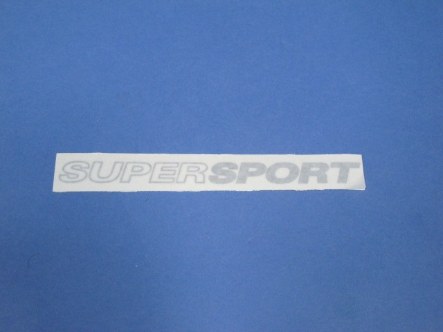 Decal - Supersport - Silver