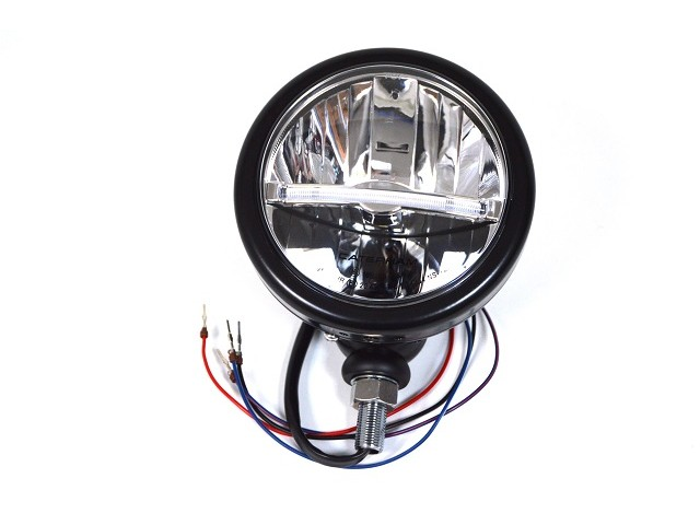 HEADLIGHT BLACK LED RHD CARS 5.3/4 DIAMETER