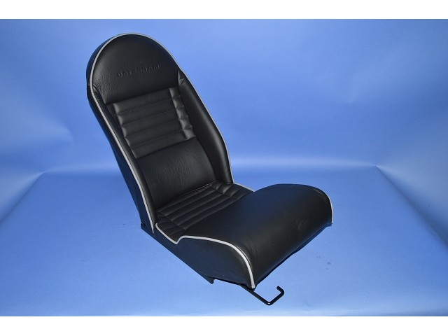 LEATHER SEAT SV BLK/GREY PIPE