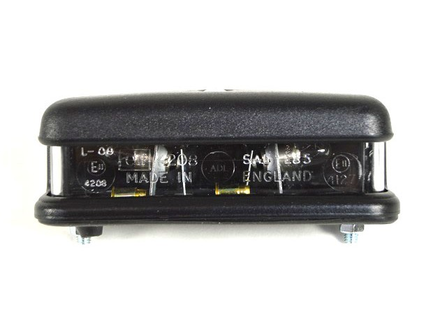 Number Plate Lamp - Black