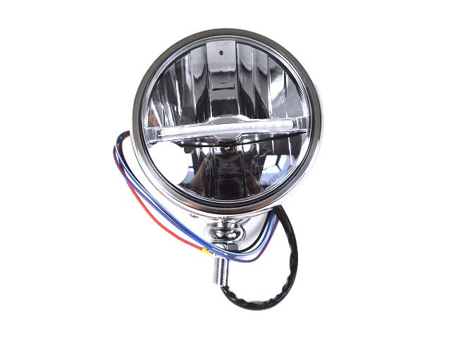 HEADLIGHT SILVER LED LHD CARS 5.3/4 DIAMETER