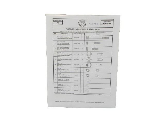 Fastener Pack - Steering - Seven 160